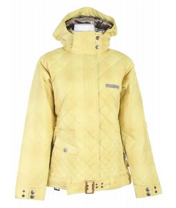 Cappel Windsor Down Snowboard Jacket Sulfur Yellow Plaid