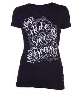 Ride Type Script T-Shirt Black