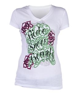 Ride Type Script T-Shirt White