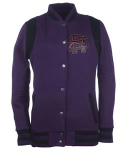 Ride Varsity Full Zip Hoodie Deep Plum