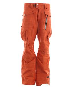 Ride Westlake Snowboard Pants Dark Orange Slub