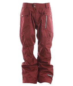 Ride Westlake Snowboard Pants Maroon Twill