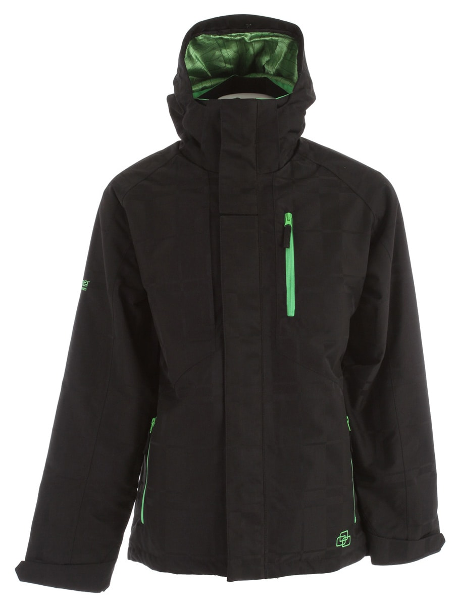 Shop for Ripzone Cyclone Snowboard Jacket Black - Men's