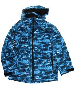 Ripzone Tradition Snowboard Jacket Mountain Blue Print