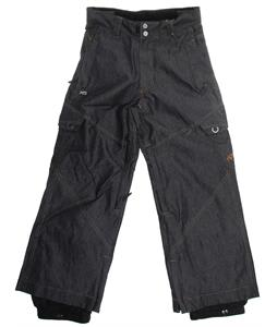 Ripzone X5 Cargo Snowboard Pants Black Denim