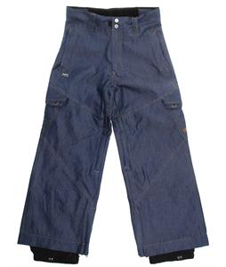 Ripzone X5 Cargo Snowboard Pants Indigo Denim