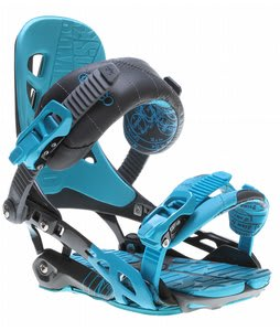 Rome 390 Snowboard Bindings Cyan/Grey