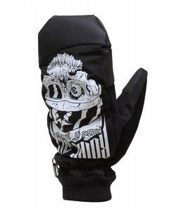 Rome Logo Mittens Black