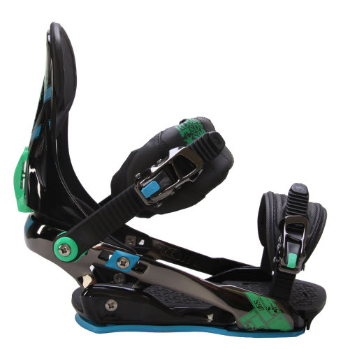 Rome S90 Snowboard Bindings Blue/Green