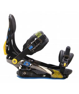 Rome S90 Snowboard Bindings Blue/Yellow