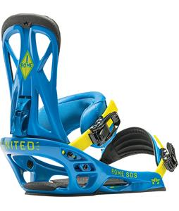 Rome United Snowboard Bindings Blue