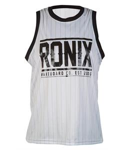 Ronix 812 Backseat Riding Tank White/Black Pinstripe