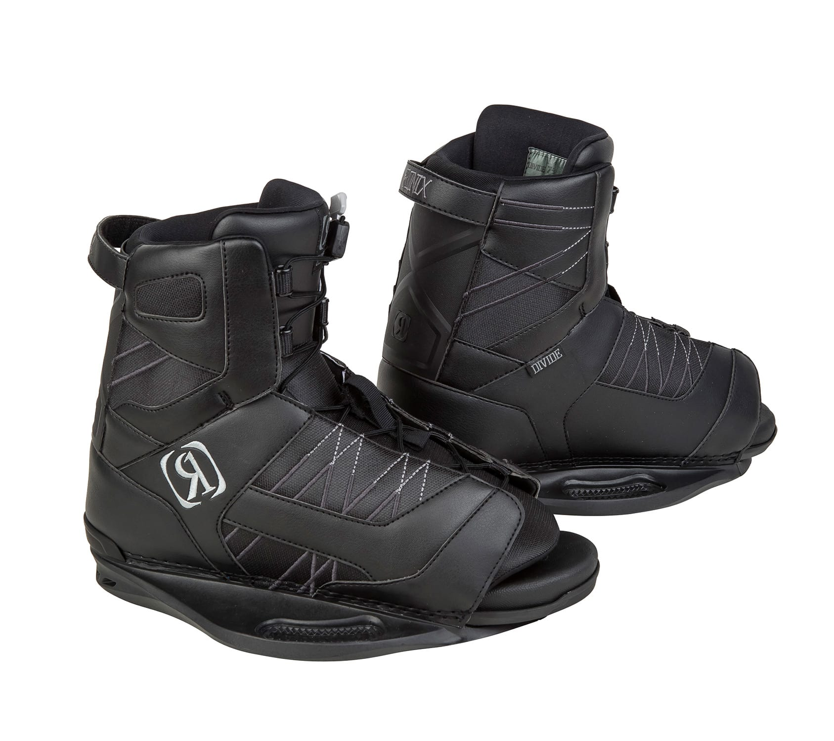 Ronix Divide Wakeboard Boots Black/Silver Mens Sz 7.5-11.5