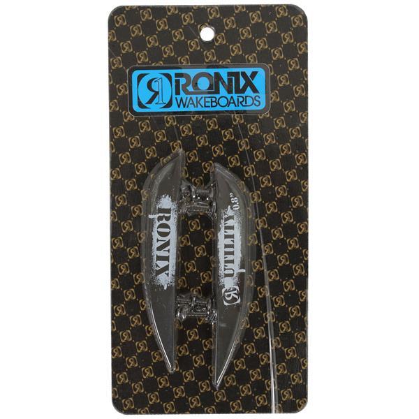 Ronix Fiberglass Utility 2 Pack Wakeboard Fins Black .8in