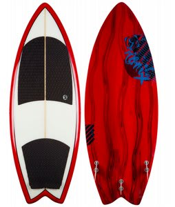 Ronix Koal Wakesurfer Red Paint Drip 5ft 6in
