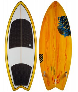 Ronix Koal Wakesurfer Yellow Paint Drip 4ft 6in
