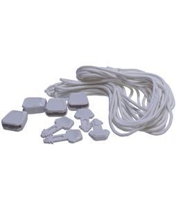 Ronix Lace Locks Kit Set Of 4 White Wake Acc