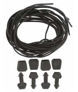 Ronix Lace Lock Kit (Set Of 4 Laces And Lace Locks) Black