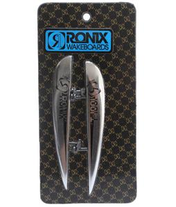 Ronix T1001 Aluminum Ramp 2 Pack Wakeboard Fins Silver 1in