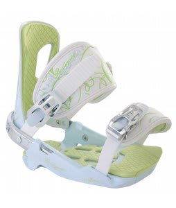 Rossignol Zena Snowboard Bindings White/Light Blue