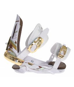 Rossignol Diva Snowboard Bindings White/Gold