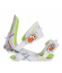 Rossignol Tesla Snowboard Bindings White/Stripes