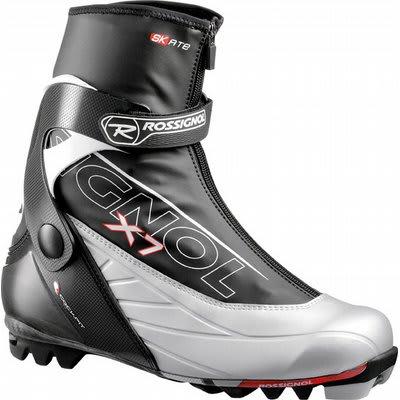 Rossignol x7 Skate Cross Country Ski Boots Black Silver