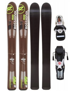 Rossignol Experience Pro Jr Skis w/ Comp Kid Bindings Black/White