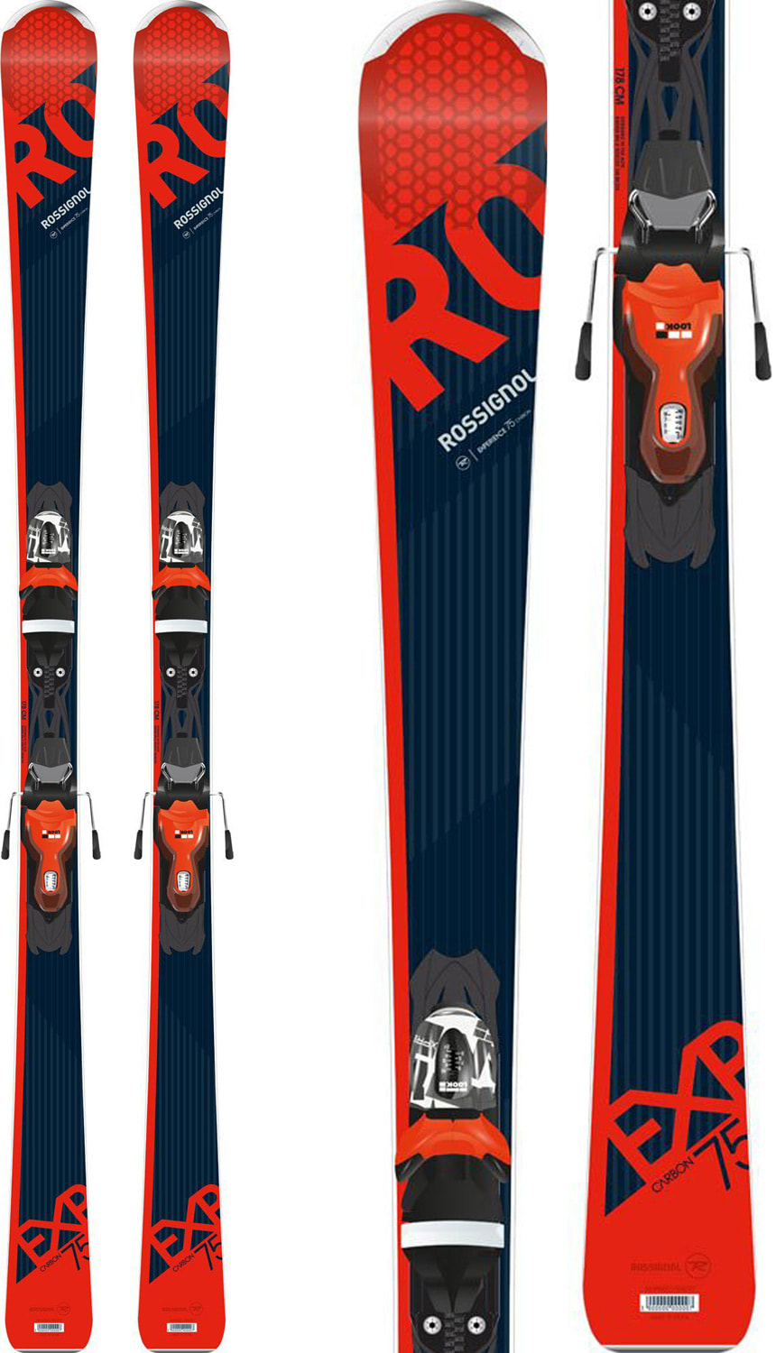 rossignol experience 75 carbon skis w xpress 10 bindings 2018. Black Bedroom Furniture Sets. Home Design Ideas