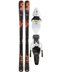 Rossignol Scimitar Jr Skis w/ Axium 70 Jr Skis Zip2 Bindings White/Black