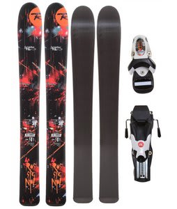 Rossignol Scimitar Jr Skis w/ Comp Kid Bindings Black/White