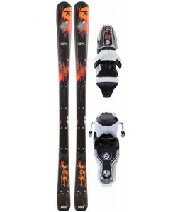 Rossignol Scimitar Jr Skis w/ Xelium Jr 70S Black
