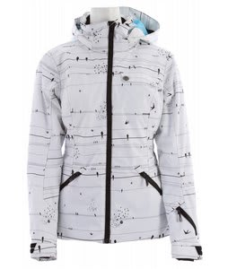 Rossignol Sleet PR Ski Jacket Birds White