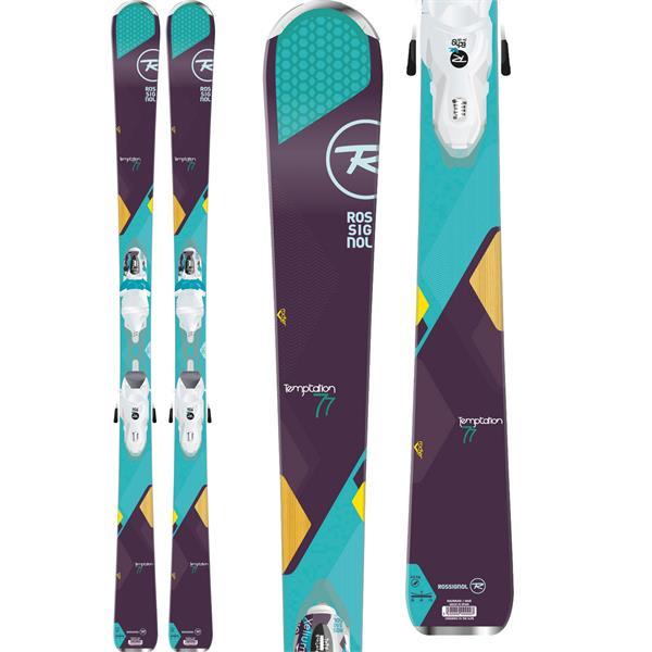 Rossignol Temptation 77 Skis w/ Xelium Saphir 110 Bindings