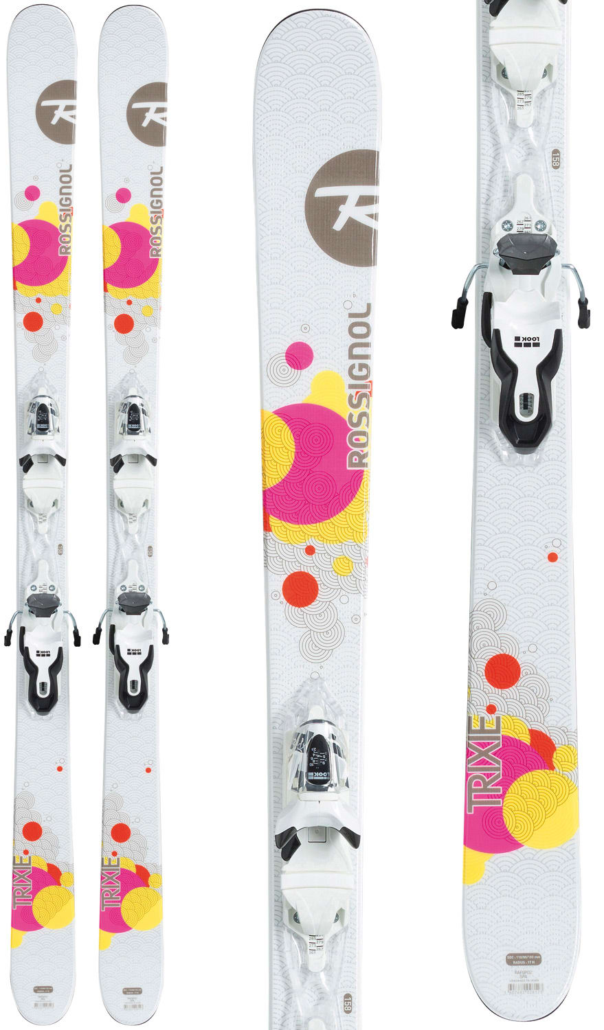 on sale rossignol trixie skis w xpress 10 bindings. Black Bedroom Furniture Sets. Home Design Ideas