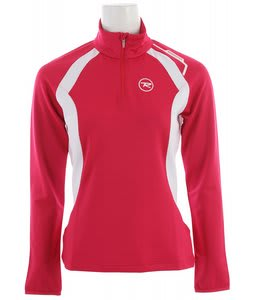 Rossignol Warm Stretch 1/2 Zip Baselayer Top Cochineal