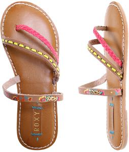 Roxy Mardi Gras Sandals Tan/Crazy Pink