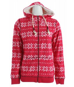 Roxy Bear Tracks Hoodie Swiss Red Print