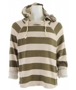 Roxy Canyon Hike Hoodie Moss Cove Stripe