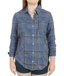 Roxy Driftwood Shirt Alamo Indigo Black Plaid
