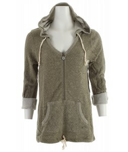 Roxy Edge Of Camp Hoodie Moss Green