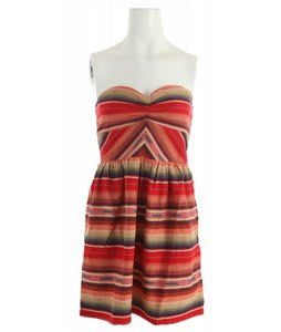 Roxy Fall Doll Dress Red Multi Stripe