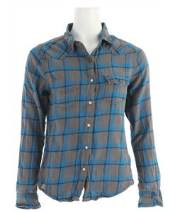Roxy Foggy Harbor Shirt Smoke Plaid