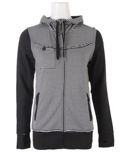 Roxy Graffiti Jersey Full Zip Hoodie Anthracite