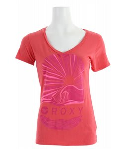 Roxy Hello Sunshine V Neck T-Shirt Rose