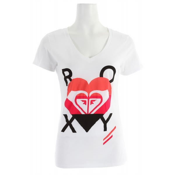 Roxy In The Heart V Neck T-Shirt
