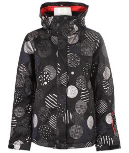 Roxy Jetty Metallic Snowboard Jacket Bigdots/Anthracite
