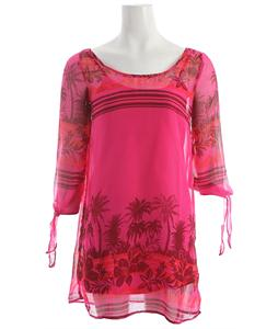 Roxy La Luna Dress Fuchsia Print