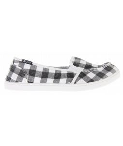 Roxy Lido Slip On Shoes Black/White Checkered