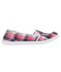 Roxy Lido Slip On Shoes Pink/White/Navy/Multi